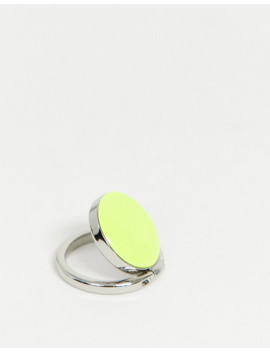 I Decoz Neon Yellow Phone Ring by Asos