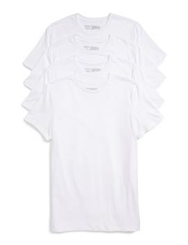 4 Pack Trim Fit Supima® Cotton Crewneck T Shirt by Nordstrom Men's Shop