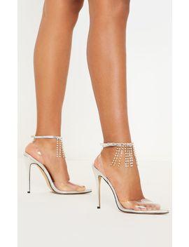Silver Diamante Tassel Clear Court Shoe by Prettylittlething