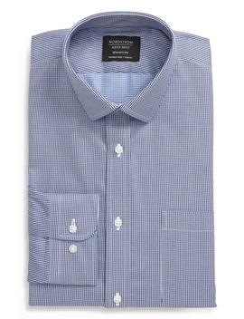 Smartcare™ Trim Fit Houndstooth Dress Shirt by Nordstrom Men's Shop