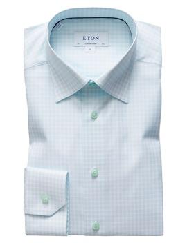 Contemporary Fit Plaid Dress Shirt by Eton