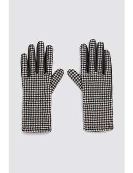 Combined Houndstooth Gloves by Zara