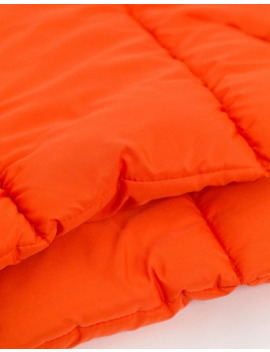 Collusion Unisex Puffer Scarf In Neon Orange by Collusion