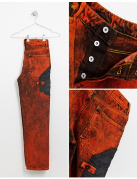 Collusion Straight Leg Jeans In Washed Orange by Collusion