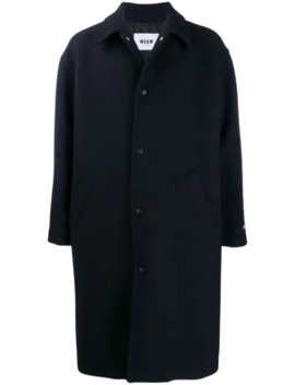 Turbo Embroidered Oversized Coat by Msgm