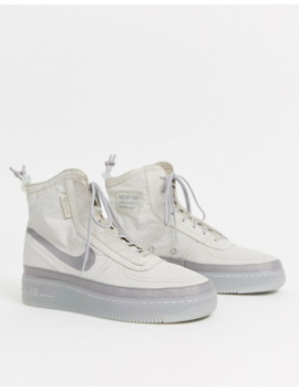 Zapatillas En Beis Air Force 1 Shell De Nike  by Nike
