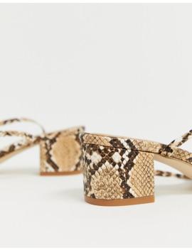 Zapatos De Tacón Medio Anudados En El Tobillo En Diseño De Serpiente Arve De Raid by Raid