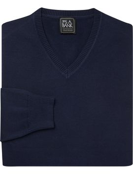 Traveler Collection Pima Cotton V Neck Sweater by Jos. A. Bank