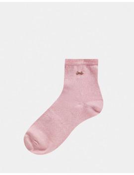 Ted Baker Lustea Rose Gold Glitter Socks by Ted Baker