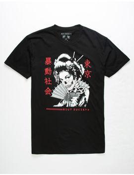 Riot Society Geisha Fan Mens T Shirt by Riot Society