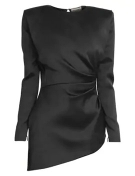 Ruched Silk Mini Dress by Saint Laurent