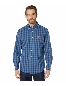 Long Sleeve Classic Fit Plaid Heather Woven by U.S. Polo Assn.