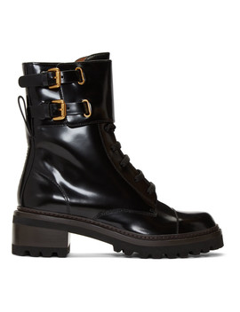 Black Mallory Biker Boots by See By ChloÉ
