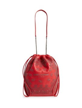 Teddy Bandana Studded Leather Bucket Bag by Saint Laurent