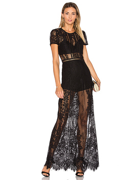 Romantic Night Dress In Black by Lovers + Friends