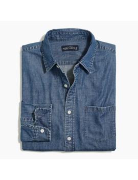 Medium Wash Denim Slim Casual Shirt by J.Crew