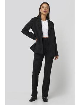 Pinstriped Suit Pants Black by Niccihernestigxnakd