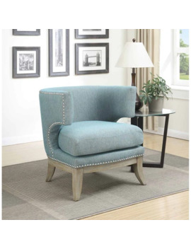 Gabby Contemporary Accent Chair   White by Generic