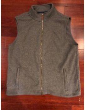 Vineyard Vines Men's Full Zip Sweater Fleece Vest Large Gray by Vineyard Vines