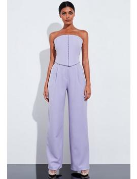 Peace + Love Lilac Corest Bandeau Top by Missguided