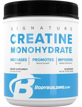 Signature Creatine Monohydrate                                                                   , 400 Grams Unflavored by Bodybuilding.Com Signature