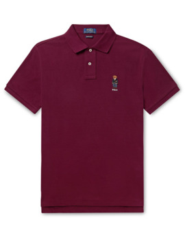 Slim Fit Embroidered Cotton Piqué Polo Shirt by Polo Ralph Lauren