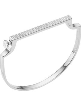 Signature Diamond And Sterling Silver Bangle by Monica Vinader
