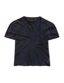 Rain Cropped Tie Dyed Cotton And Cashmere Blend Jersey T Shirt by Rt A