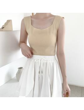 Estilo Coreano Verano Chic Viento Retro Simplicidad Pure Color Cien Lap Slim Knitt by Ebay Seller