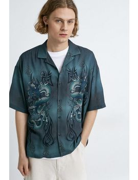 Uo Dragon Button Down Shirt by Urban Outfitters