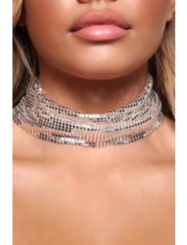 Bedroom Playtime Choker   Silver by Fashion Nova