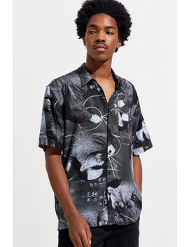 Uo Math Man Duo Rayon Short Sleeve Button Down Shirt by Urban Outfitters