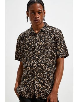 Barney Cools Holiday Leopard Short Sleeve Button Down Shirt by Barney Cools