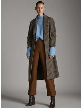 Sweter Z PÓŁgolfem I ZaokrĄglonym DoŁem by Massimo Dutti