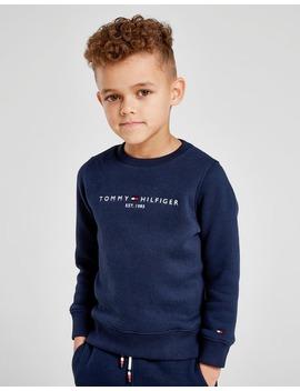 Tommy Hilfiger Essential Logo Crew Sweatshirt Children by Jd Sports