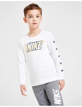 Nike Block Swoosh Long Sleeve T Shirt Children by Jd Sports