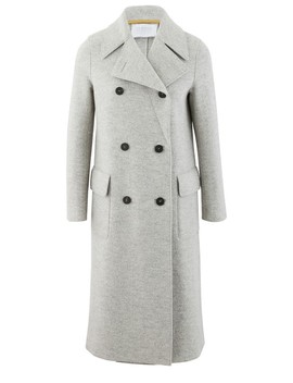Military Coat In Boiled Wool by Harris Wharf London