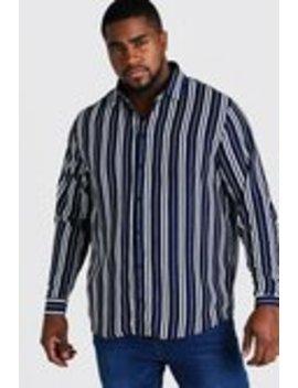 Big And Tall Long Sleeve Regular Collar Shirt by Boohoo Man