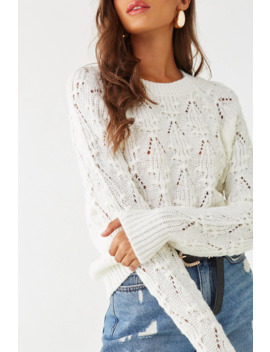 Cable Knit Raglan Sweater by Forever 21