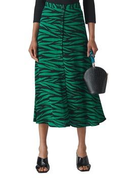 Tiger Print Midi Skirt by Whistles