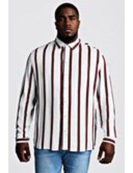 Big & Tall Stripe Print Shirt by Boohoo Man