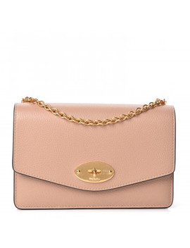 Mulberry Small Classic Grain Calfskin Small Darley Rosewater by Mulberry