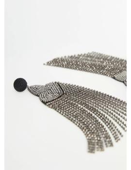 Crystal Tassel Earring by Mango