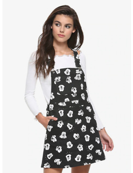 Disney Mickey Mouse Black & White Print Skirtall by Hot Topic