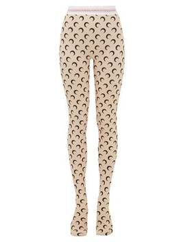 Crescent Moon Print Stretch Jersey Leggings by Marine Serre