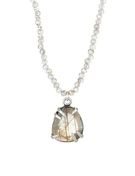 Sterling Silver & Labradorite Beaded Pendant Necklace by Chan Luu
