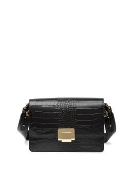 Alessandra Leather Python Print Shoulder Bag by Persaman New York