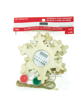 Snowflakes Diy Wood Frame Ornament Kit By Art Minds™ by Artminds