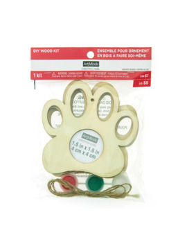 Paw Print Diy Wood Frame Ornament Kit By Art Minds™ by Artminds