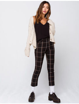 Sky And Sparrow Window Pane Womens Pants by Sky And Sparrow